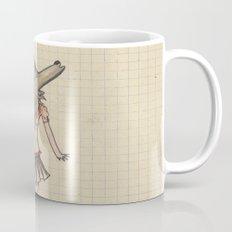 Woman Wolf at school Mug