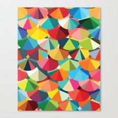 Piecharts Pattern Canvas Print