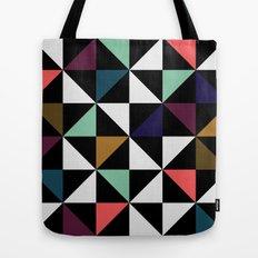 Triangle pattern (salmon & mint) Tote Bag