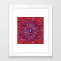 Red And Blue Mandala  Framed Art Print