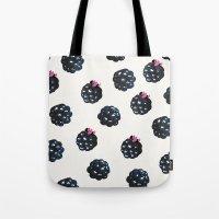 Blackberries pattern Tote Bag