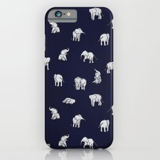 Indian Baby Elephants in Navy iPhone 6 Slim Case
