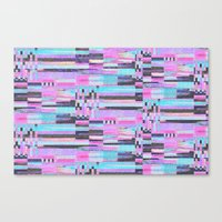 Pink Lines Of Chalk Canvas Print