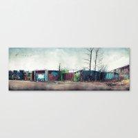 Junkyard Fence Canvas Print