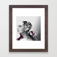 Quartz Armor & Orchids in Her Hair Framed Art Print