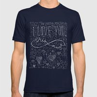Infinity Valentine Mens Fitted Tee Navy SMALL