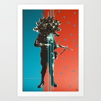 War Soldier Collage 2 Art Print