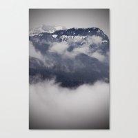 Cold Columbia Gorge Morning Staring Into Washington's Mountains Canvas Print