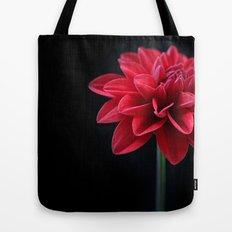 Red Velvet Dahlia Tote Bag