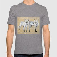 foxes Mens Fitted Tee Tri-Grey SMALL