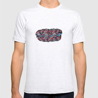 Waves And Tentacles Mens Fitted Tee Ash Grey SMALL