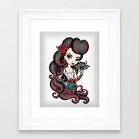The Bat Mistress Framed Art Print