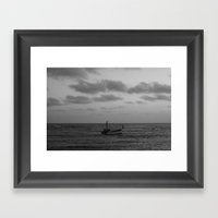one man boat Framed Art Print