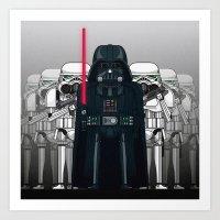 Darth Vader and Stormtroopers Art Print