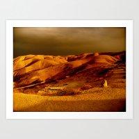 Sunset Desert Art Print