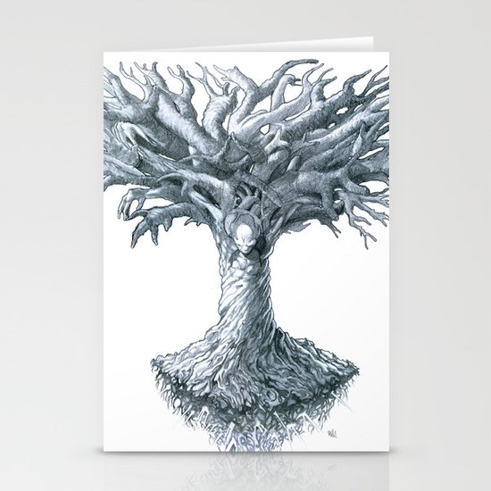 The Tree of Many Things Stationery Card