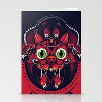 robo cat Stationery Cards