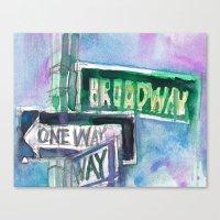 Broadway Sign Canvas Print