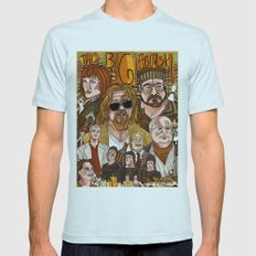 The Big Lebowski Mens Fitted Tee Light Blue SMALL
