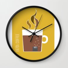 70s Coffee Wall Clock