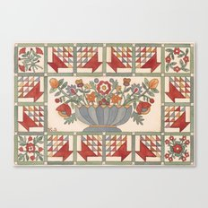 Applique Florals Canvas Print