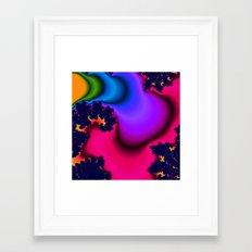 Molten Rainbow Framed Art Print