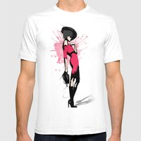 Pink Dress - Fashion Ill… Mens Fitted Tee White SMALL