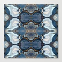 Agate The Blues Canvas Print