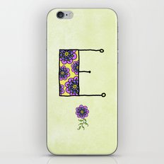E e iPhone & iPod Skin