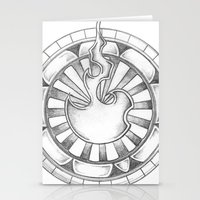 Flame Circle Stationery Cards