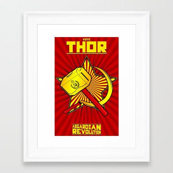 Asgardian Revolution: THOR Framed Art Print