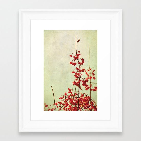 autumn berries Framed Art Print