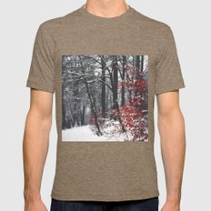 Winter Day Mens Fitted Tee Tri-Coffee SMALL