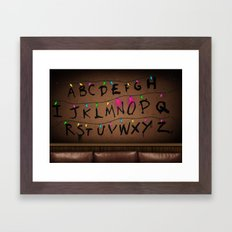 Stranger Things Happens Framed Art Print