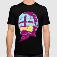 Robocop (neon) Mens Fitted Tee Black SMALL