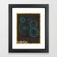 Minimalist Havok Framed Art Print
