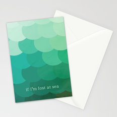 if i'm lost at sea Stationery Cards