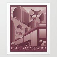 Transportation Advertise… Art Print