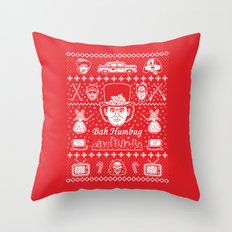 Merry Scroogedmas Throw Pillow