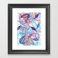 trajectories Framed Art Print