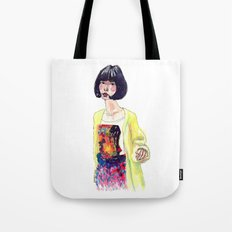 Fashion Illustration . Oriental Girl Tote Bag