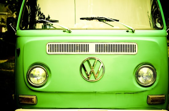 Summer of Love - Groovy Green Canvas Print