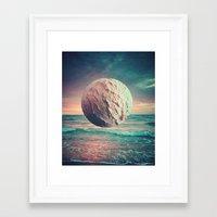 Iced Sun Framed Art Print