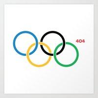 Olympic Games Rings Art Print