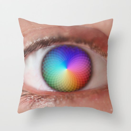 I see all the Colors - Geometric Pantone Eye Vision Throw Pillow