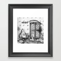 Unicorn House Framed Art Print