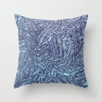 Feather story Throw Pillow
