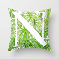 Letter N Throw Pillow