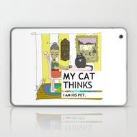 My cat thinks I am his pet Laptop & iPad Skin