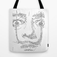 Salvador Dalì WordsPortrait Tote Bag